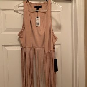Sleeveless casual vest with fringes. Brand new